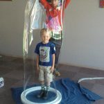Kid in giant bubble